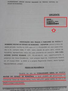 COMANDANTE DA POLÍCIA MILITAR BUSCA IMPEDIR VOTAÇÃO DOS MILITARES, ASSFAPOM DENUNCIA E PEDE PROVIDÊNCIAS AO TRE