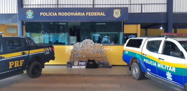 PRF e PM apreendem 600 kg de maconha em Vilhena