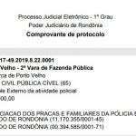 ASSFAPOM PROTOCOLA AÇÃO QUE VISA REALIZAÇÃO DO CURSO DE FORMAÇÃO DE CABO DA PM/RO