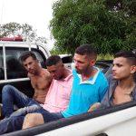POLICIAIS MILITARES RECUPERAM PICK-UP STRADA QUE HAVIA SIDO ROUBADA NA CAPITAL; TRÊS APENADOS E UM FORAGIDO FORAM PRESOS