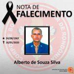 ASSFAPOM- Nota de Pesar pela morte   2° TEN BM RR Alberto de Souza Silva