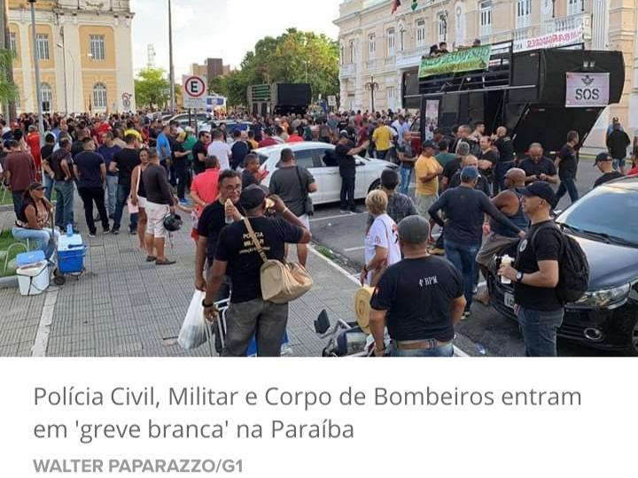 Policiais civis, militares e Corpo de Bombeiros entram em 'greve branca' na Paraíba