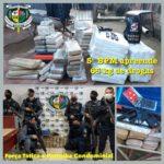 5º BPM- 65 kg de drogas, arma e cinco pessoas são apreendidos na Zona Leste de Porto Velho