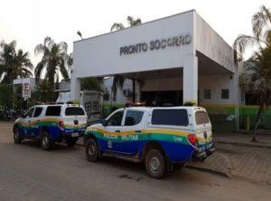 SEM GUINCHO: PM é hospitalizado ao sofrer acidente quando embarcava moto roubada em viatura