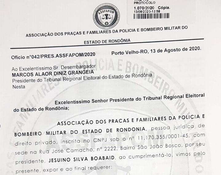 VOTO EM TRÂNSITO – ASSFAPOM solicita providências do TRE-RO para cumprimento de Lei