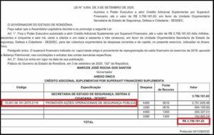 INOPERÂNCIA: SESDEC tem crédito suplementar de mais de R$ 3.700,000,00 reais aprovado pela Assembleia Legislativa