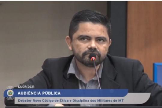 Presidente da Assfapom discute Código de Ética de militares em Audiência Pública no MT-Veja Vídeo